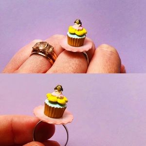 Rement Dollhouse Fairy Girl Cupcake Ring OOAK